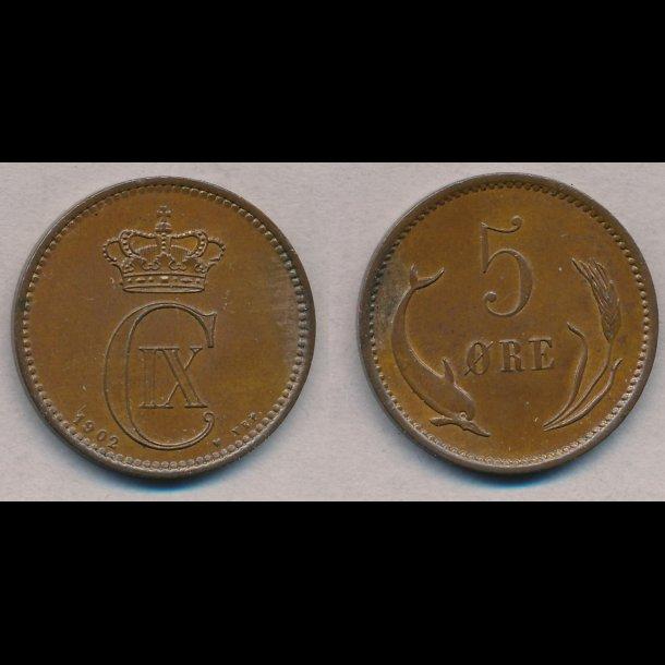 1902, Christian IX, 5 øre, 0, lbnr 2