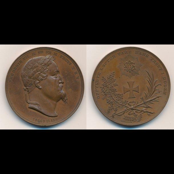 1863, Frederik VII's død, bronze