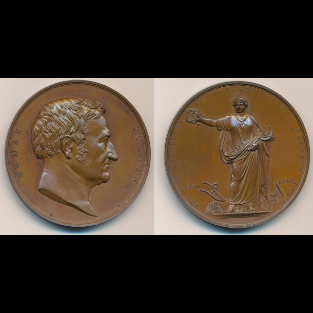 1855, Jonas Collin, bronze, 0