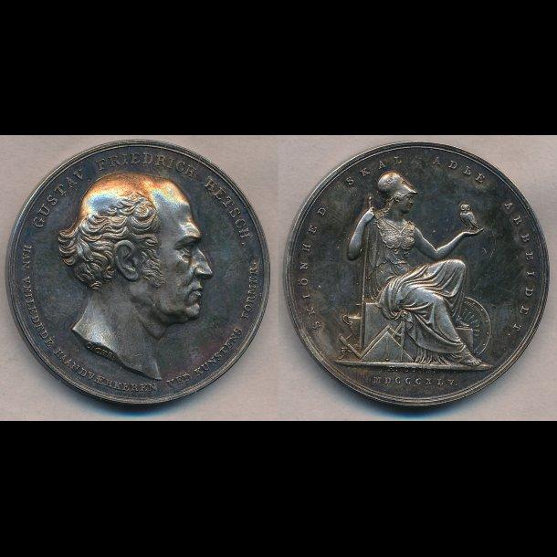 1845, Gustav Friederich Hetch, sølv, 0