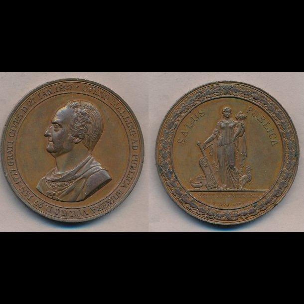 1827, Ove Malling 50 års jubilæum, bronze, 01