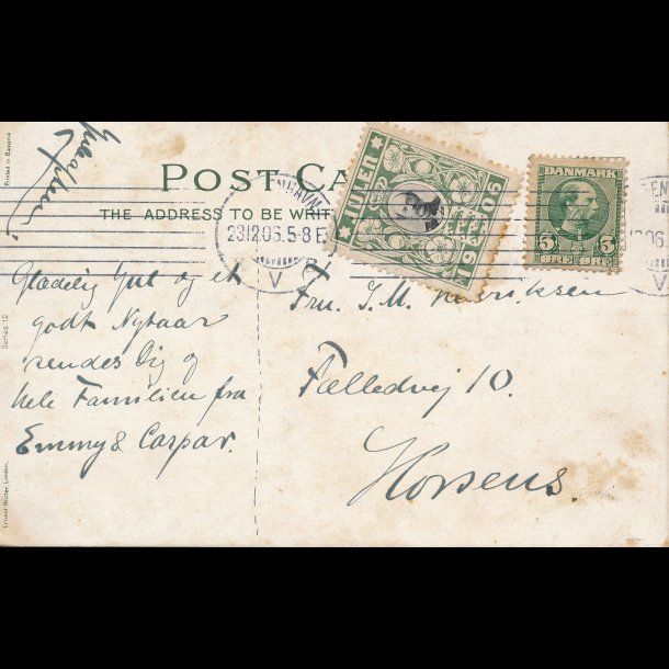 1906, Julemærke, Danmark, Christian IX, lbnr3017