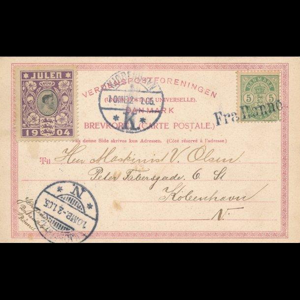 1904, Julemærke, Danmark, Dronning Louise