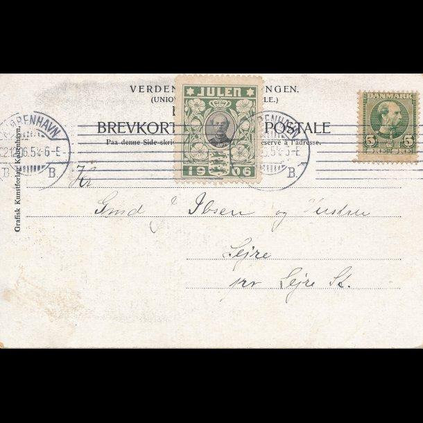 1906, Julemærke, Danmark, Christian IX, lbnr3016