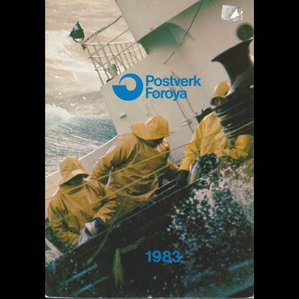1983, Færøerne, årsmappe, postpris 25,00 kr,