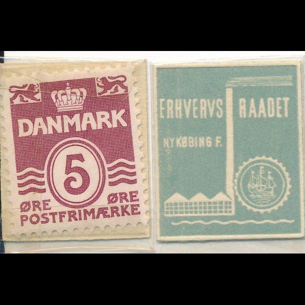 1941-45, Frimærkepenge, Erhvervsraadet Nykøbing F, 5 øre,