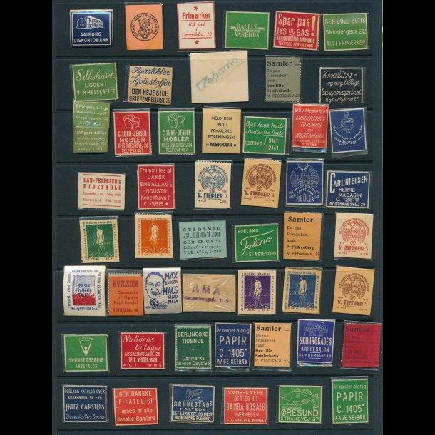 1941-45, Frimærkepenge, 1 øre, 50 forskellige,