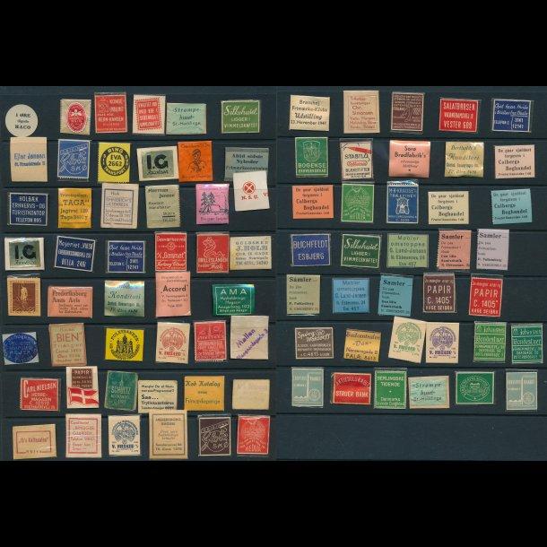 1941-45, Frimærkepenge, 1-, 2- og 5 øre, 81 forskellige,