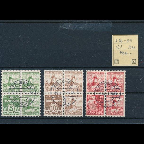 .236-35, frimærker, Danmark, 1937, ʘ