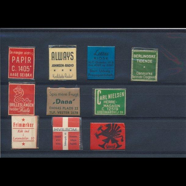 1941-45, Frimærkepenge, 1 øre, 10 forskellige, lbnr 3.