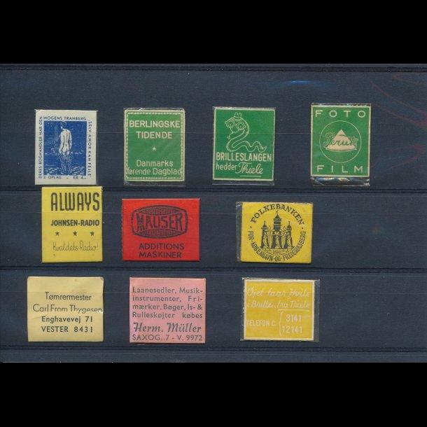 1941-45, Frimærkepenge, 1 øre, 10 forskellige, lbnr 5.