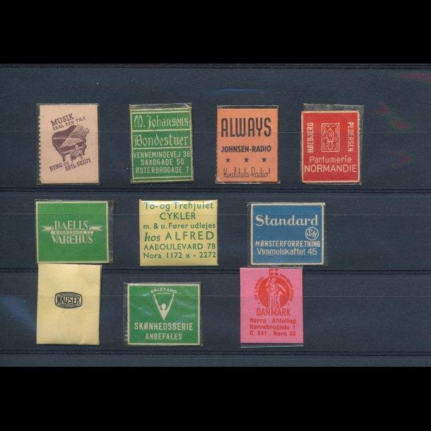 1941-45, Frimærkepenge, 1 øre, 10 forskellige, lbnr 11.