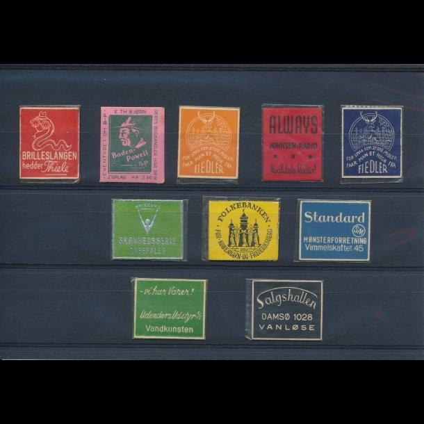1941-45, Frimærkepenge, 1 øre, 10 forskellige, lbnr 6.