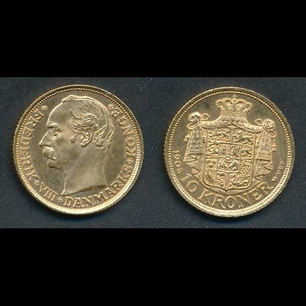 1908, 10 kroner, 01/0