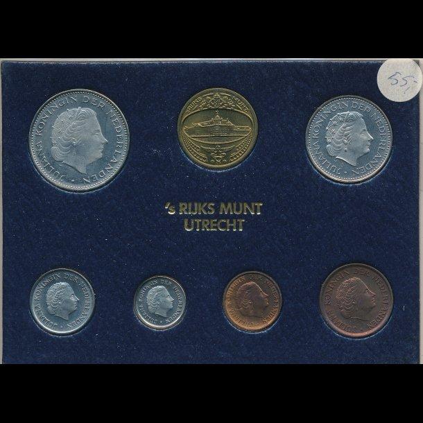 1980, Holland, årssæt 1-,5-,10- og 25 cents ,1- og 2½ gylden, 0822
