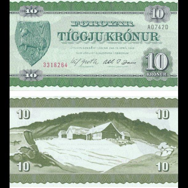 1978, Færøerne, 10 krónur, 0, Sieg 27, Pick 16,