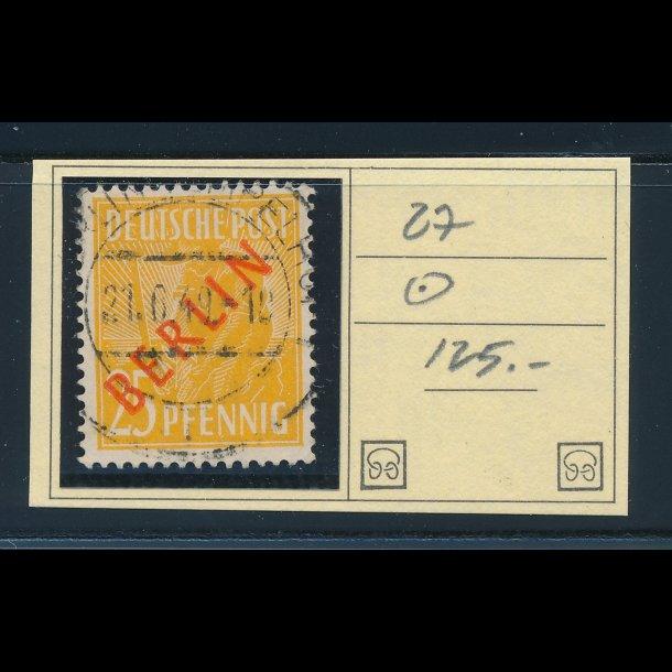 .27, 1949, Berlin, 25 pfennig, ʘ,