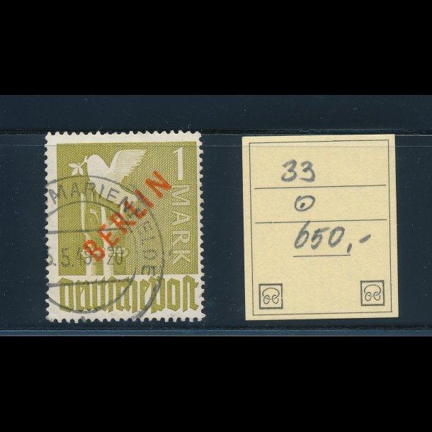.33, 1949, Berlin, 1 mark, ʘ