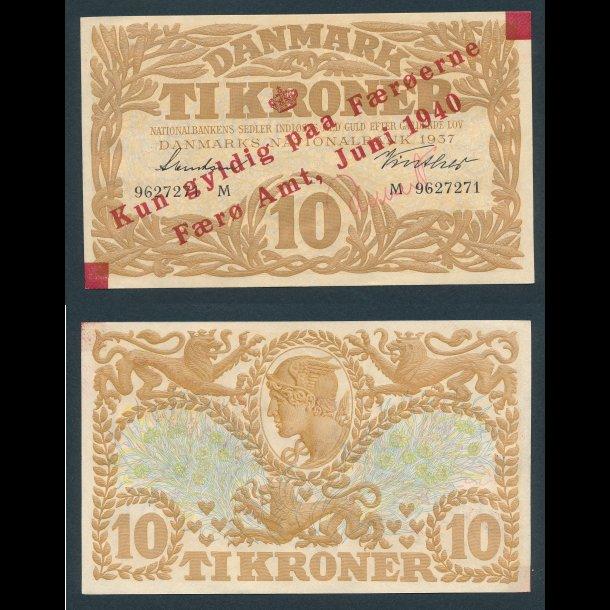 1940, Færøerne, 10 kroner, 0, Sieg 8, Pick 2