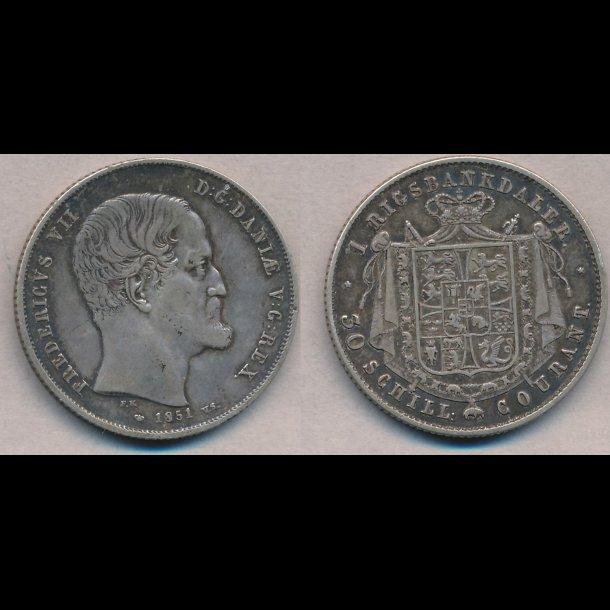 1851, Frederik VII, 1 Rigsbankdaler,