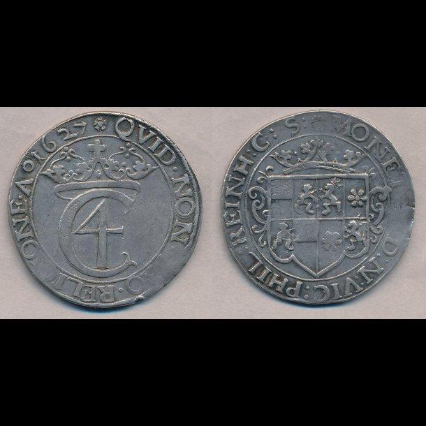 1627, Christian IV, 1 speciedaler, Wolfenbüttel, 1++, H3A,  S8, Sieg 193,2