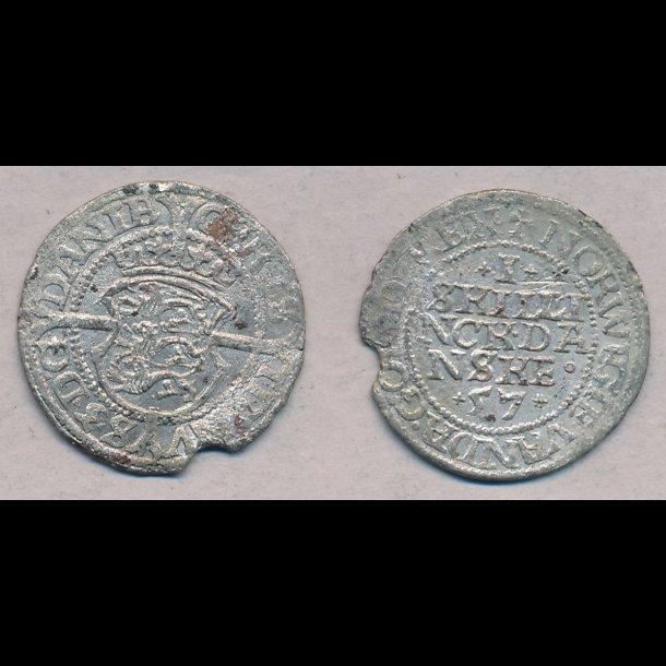 1557, Frederik II, 1 skilling, 1, H6B