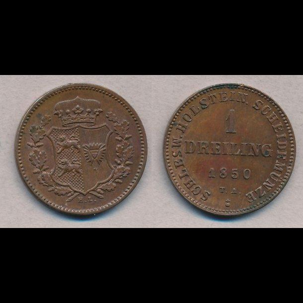 1850, Frederik VII, 1 Dreiling, 0 / 01