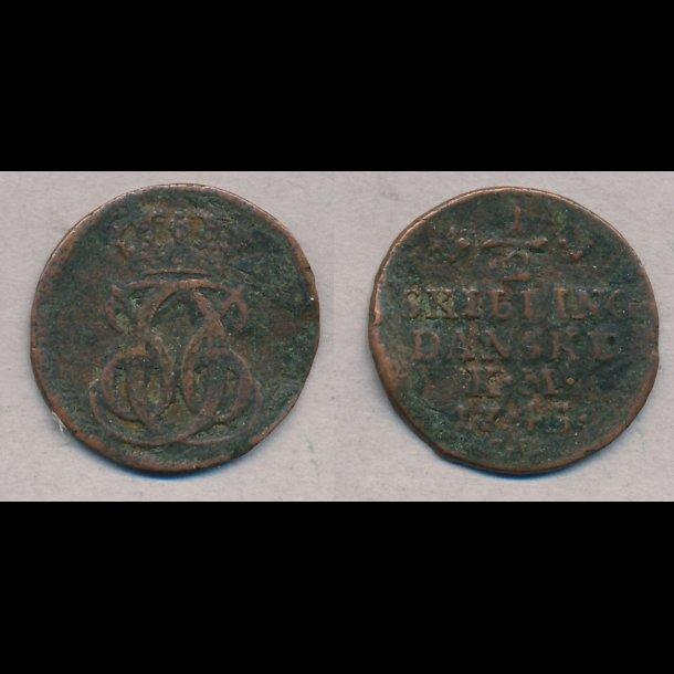 1745, Christian VI, ½ skilling
