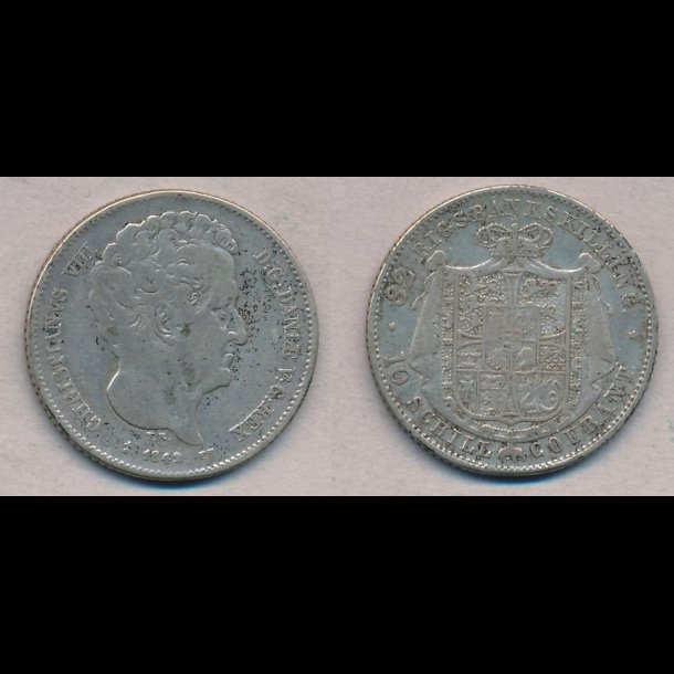 1842, Christian VIII, 32 rigsbankskilling,