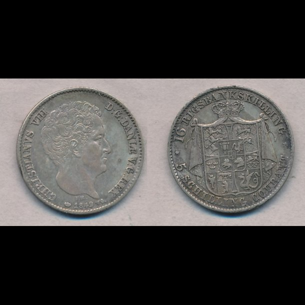 1842, Christian VIII, 16 rigsbankskilling,