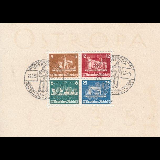 1938, Tyskland, Ostropa miniark, ʘ