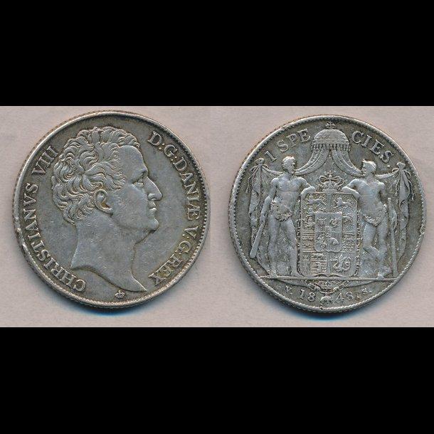 1843, VS, Christian VIII, 1 species,  H3F,
