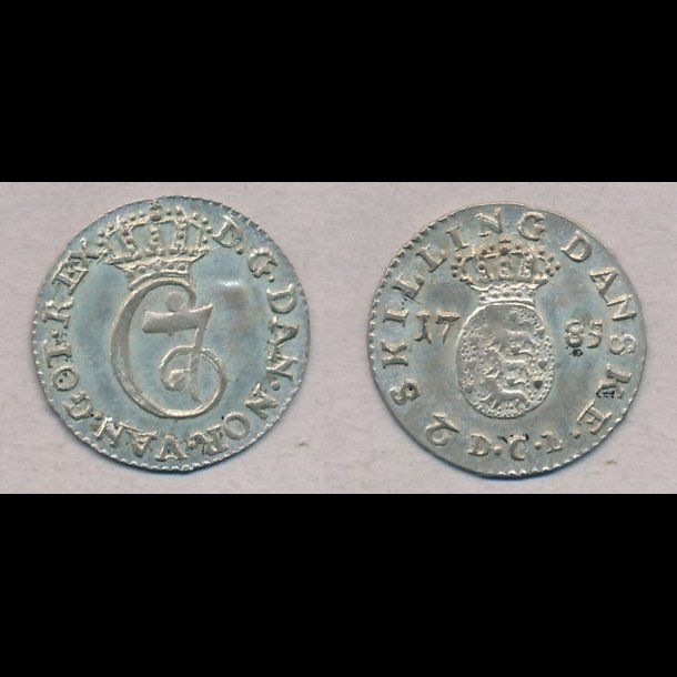 1785, Christian VII, 2 skilling, 01, H33C,