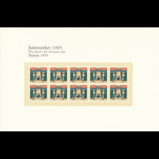 1904-1909, 1916, Danske julemærker i nytryk, katalog værdi 1.590 kr, lbnr3013
