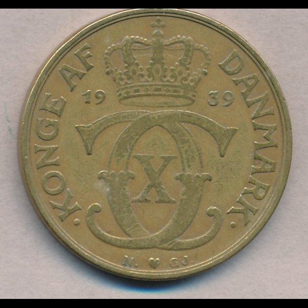 1939, 2 kroner, Christian X, 1(+)