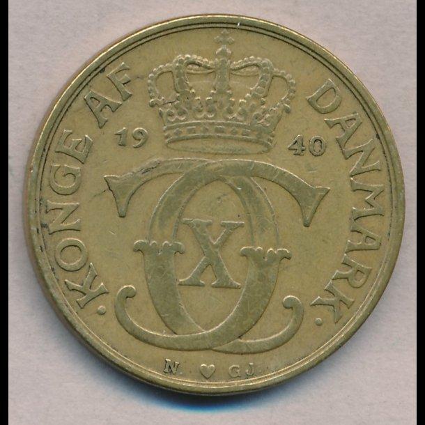 1940, 2 kroner, Christian X, 1(+)
