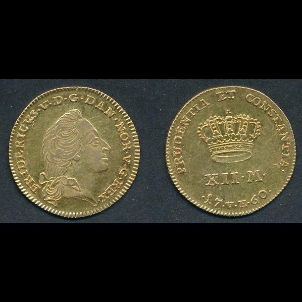1760, Frederik V, Kurantdukat, H22C, 01, lbnr 27