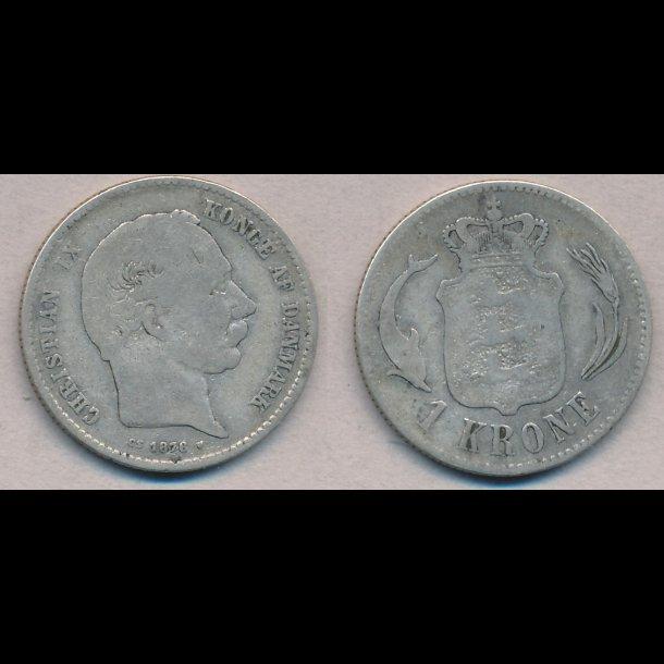 1876, Christian IX, 1 krone