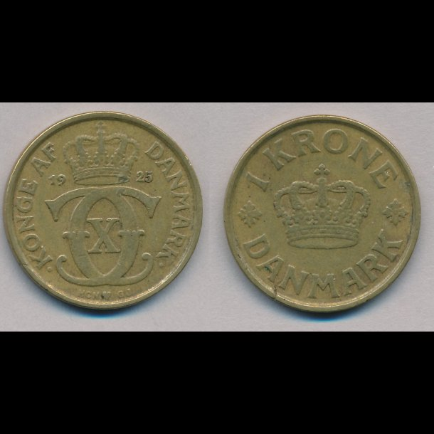 1934, Christian X, 1 krone, 1(+)