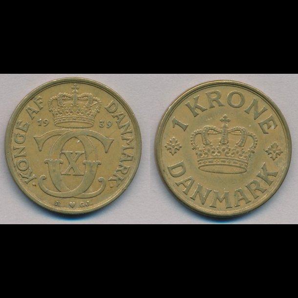 1939, Christian X, 1 krone, 1(+)