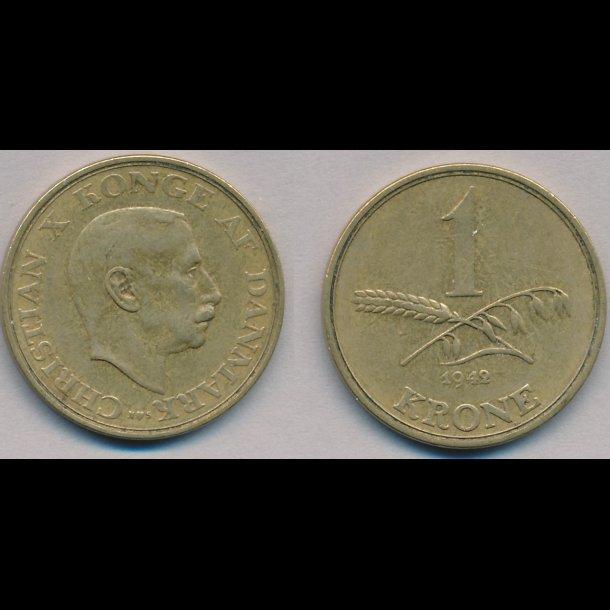1945, Christian X, 1 krone, 1(+)