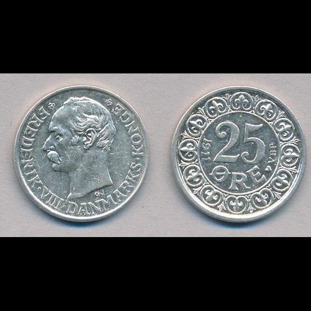 1911, Frederik VIII, 25 øre, 1++