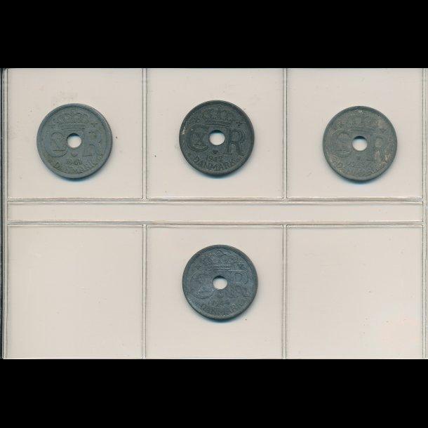 1941-1944, 25 øre, zink, 1+,7465