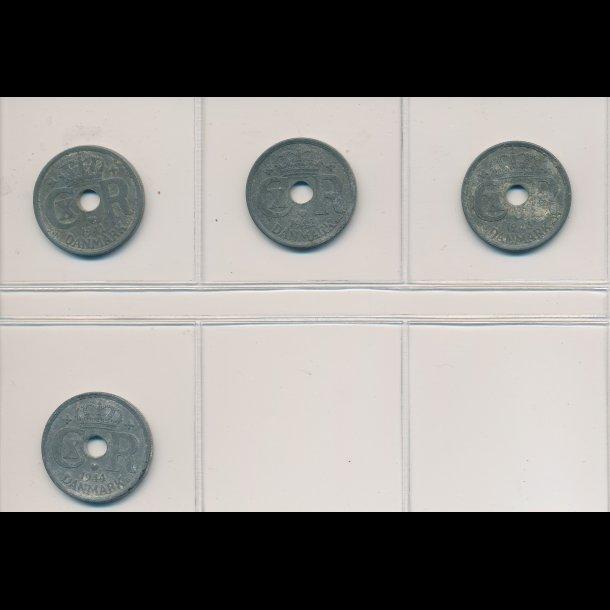 1941 - 1944, 25 øre, zink, 1 / 1-, 7470