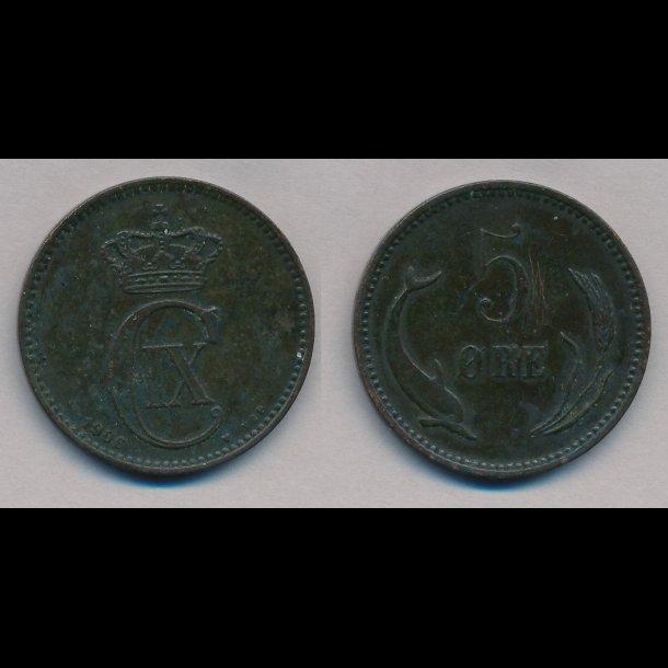 1906, Christian IX, 5 øre, 1 / 1-