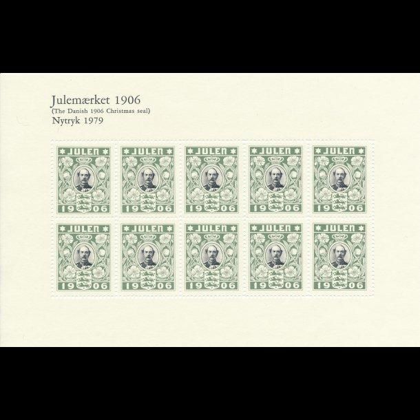 1904-1918, Danske julemærker i nytryk af 1. oplag, lbnr 3001