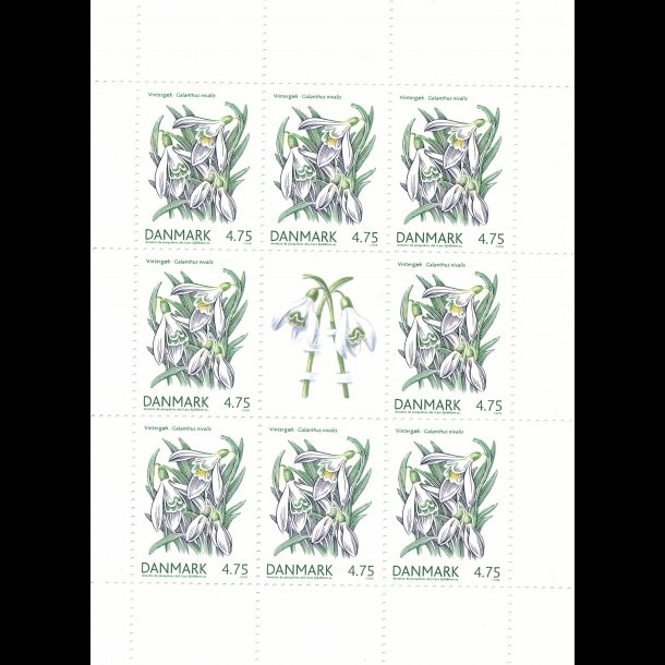 25, 4,75 kroner, blomster frimærker