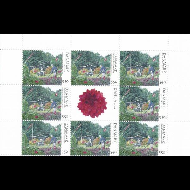34, 5,50 kroner, kolonihaver frimærker,