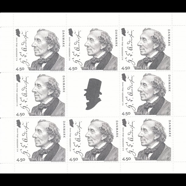 20, 4,50 kroner, H.C.Andersen frimærker