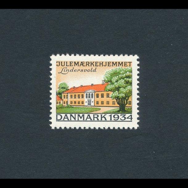 1934, Julemærker, Danmark, Lindersvold,